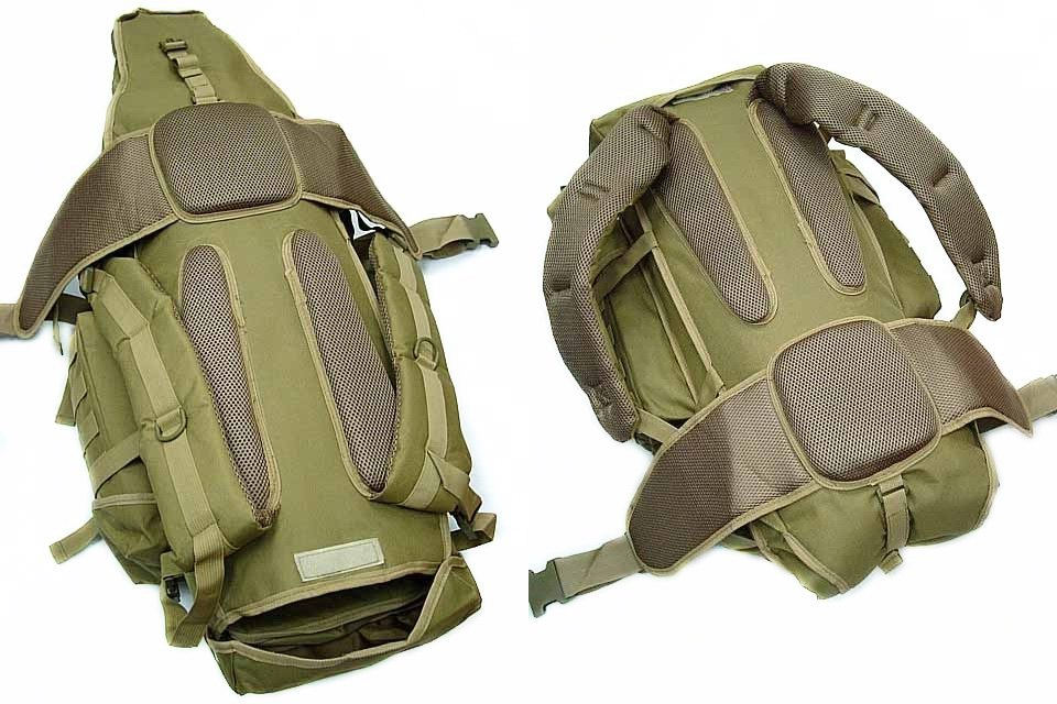 Click To Enlarge 911 Tactical FULL GEAR Rifle Combo Backpack TAN
