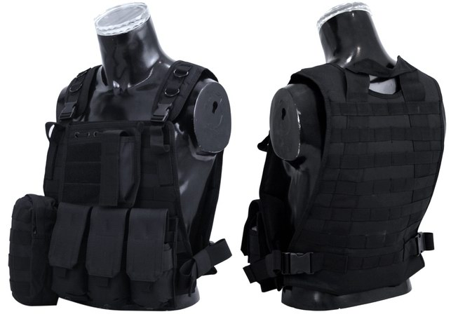 eoutlet E.L.A -NZ Store- - SWAT BLACK STRIKE Plate Carrier Harness