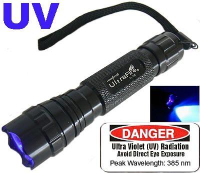 Ultrafire 3 Watt Uv Flashlight Torch Ultraviolet