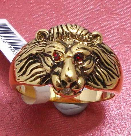 eoutlet E L A NZ Store RUBY EYED LIONS HEAD MENS BAND RING sz